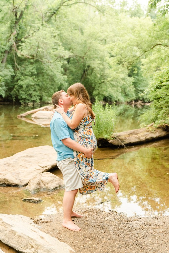 engagement session in local park with Renee Nicolo Photography