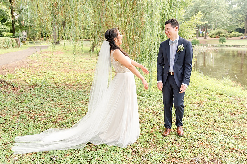 New Jersey wedding day first look