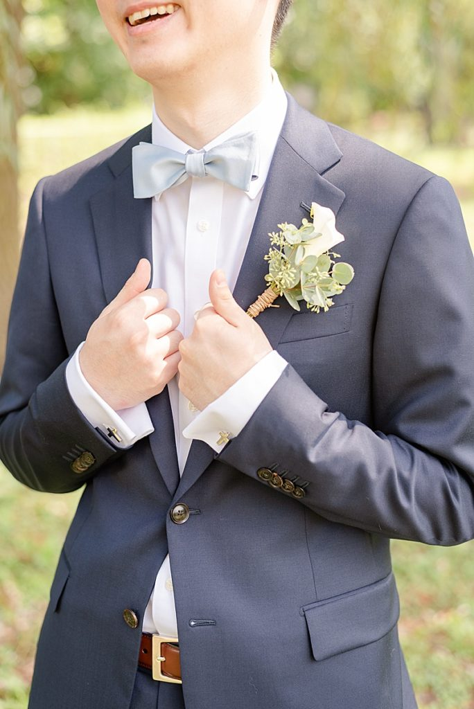 groom's details for summer wedding in New Jersey