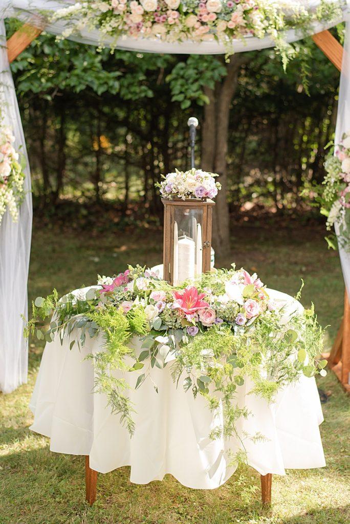 NJ backyard wedding ceremony details