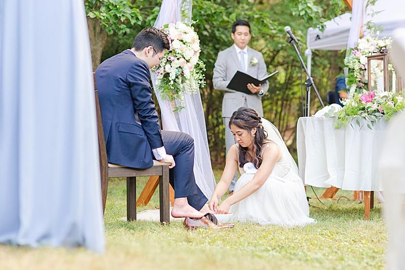 foot washing ritual for NJ wedding day
