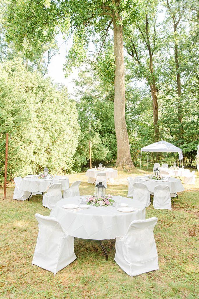 NJ backyard wedding reception