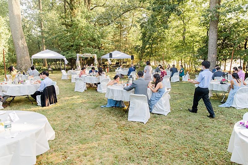 New Milford NJ wedding reception in backyard