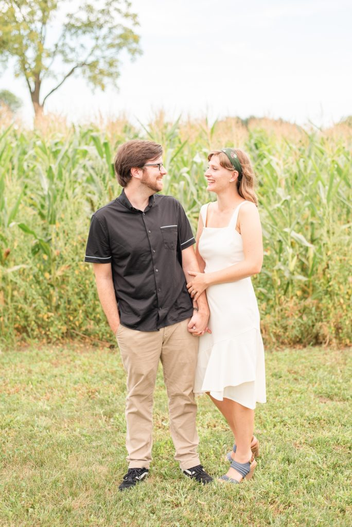 Pennsylvania farm engagement portraits