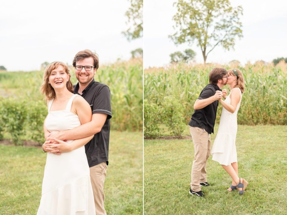 farm engagement portraits in Pennsylvania