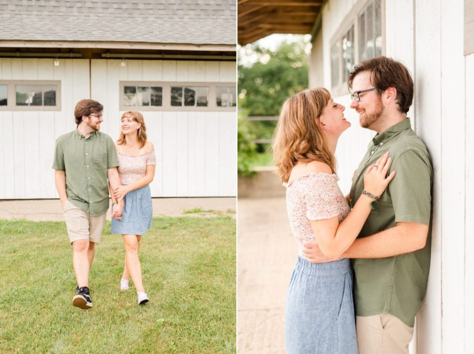 romantic engagement session at Historic Stonebrook Farm