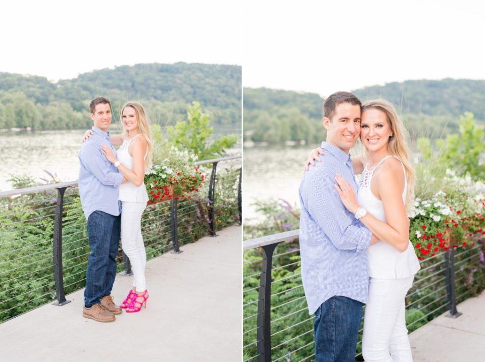 romantic summer engagement session in New Hope PA