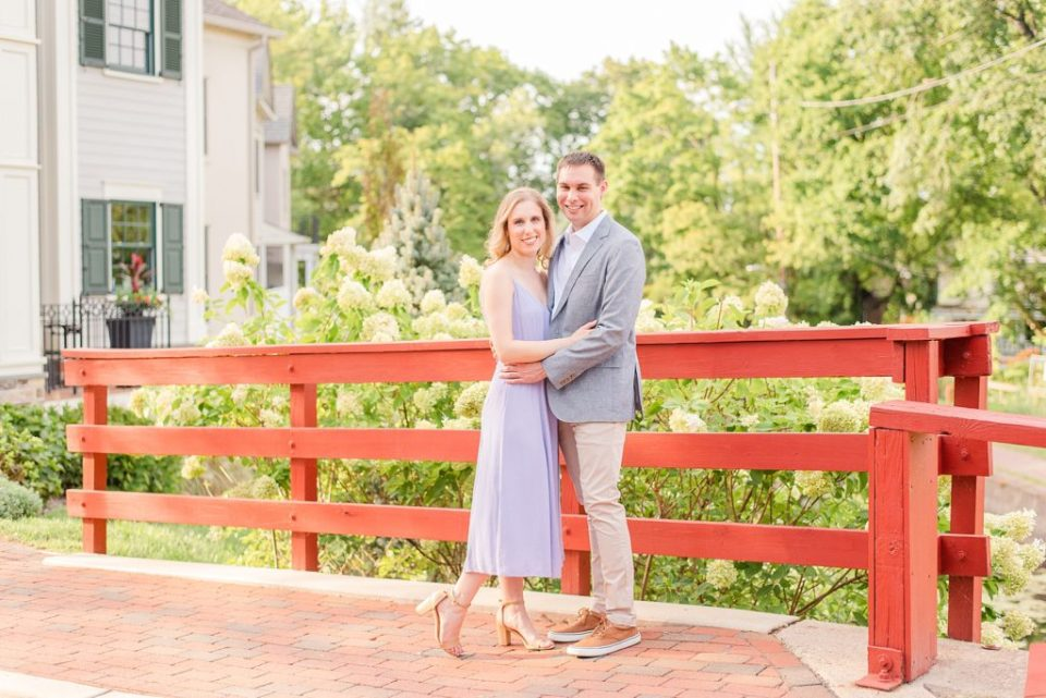 summer engagement portraits in New Hope