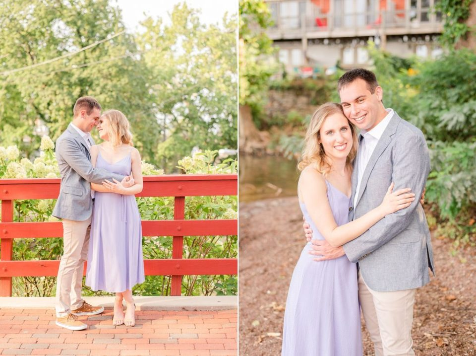 summer engagement portraits in small PA town