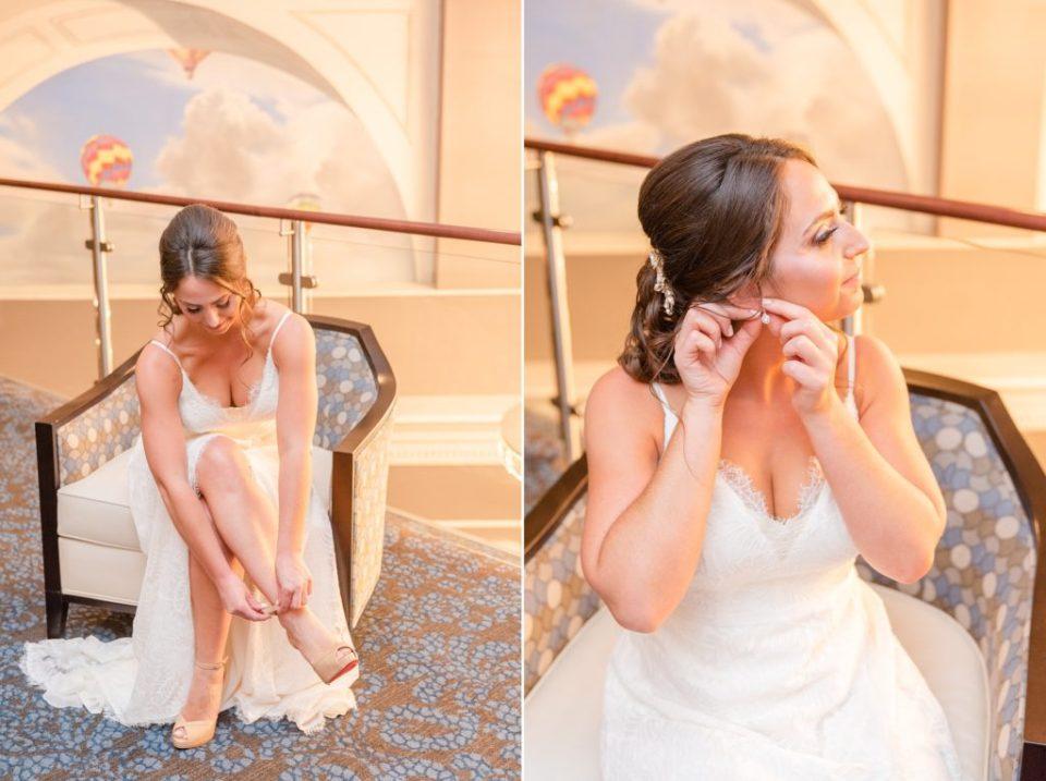 bride prepares for PA wedding