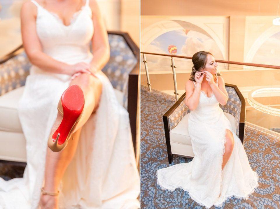 bride prepares for Desmond Hotel Malvern wedding