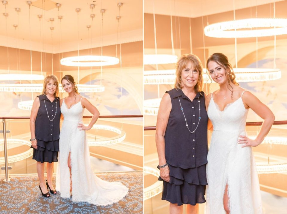 mom and bride pose at the Hotel Desmond
