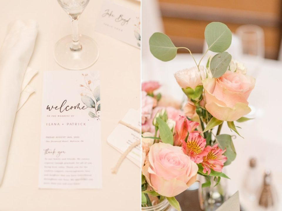 summer wedding reception details photographed by Renee Nicolo Photography