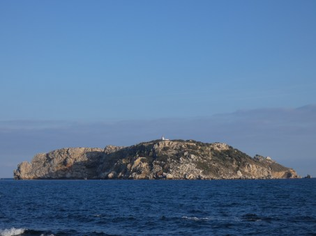 Islas Medas with the lighthouse