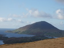 view on Renvyle Peninsula and Tully Mountain