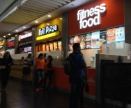 Fitness Food, Full Pizza, and Burger King - there is something for everyone at Albrook Mall
