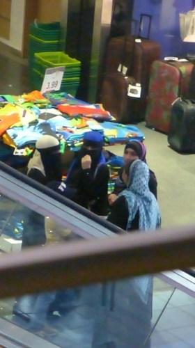 Muslim women shopping at Albrook Mall