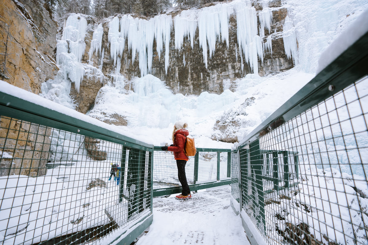 Planning a Trip to Banff in Winter - Johnston Canyon - Renee Roaming