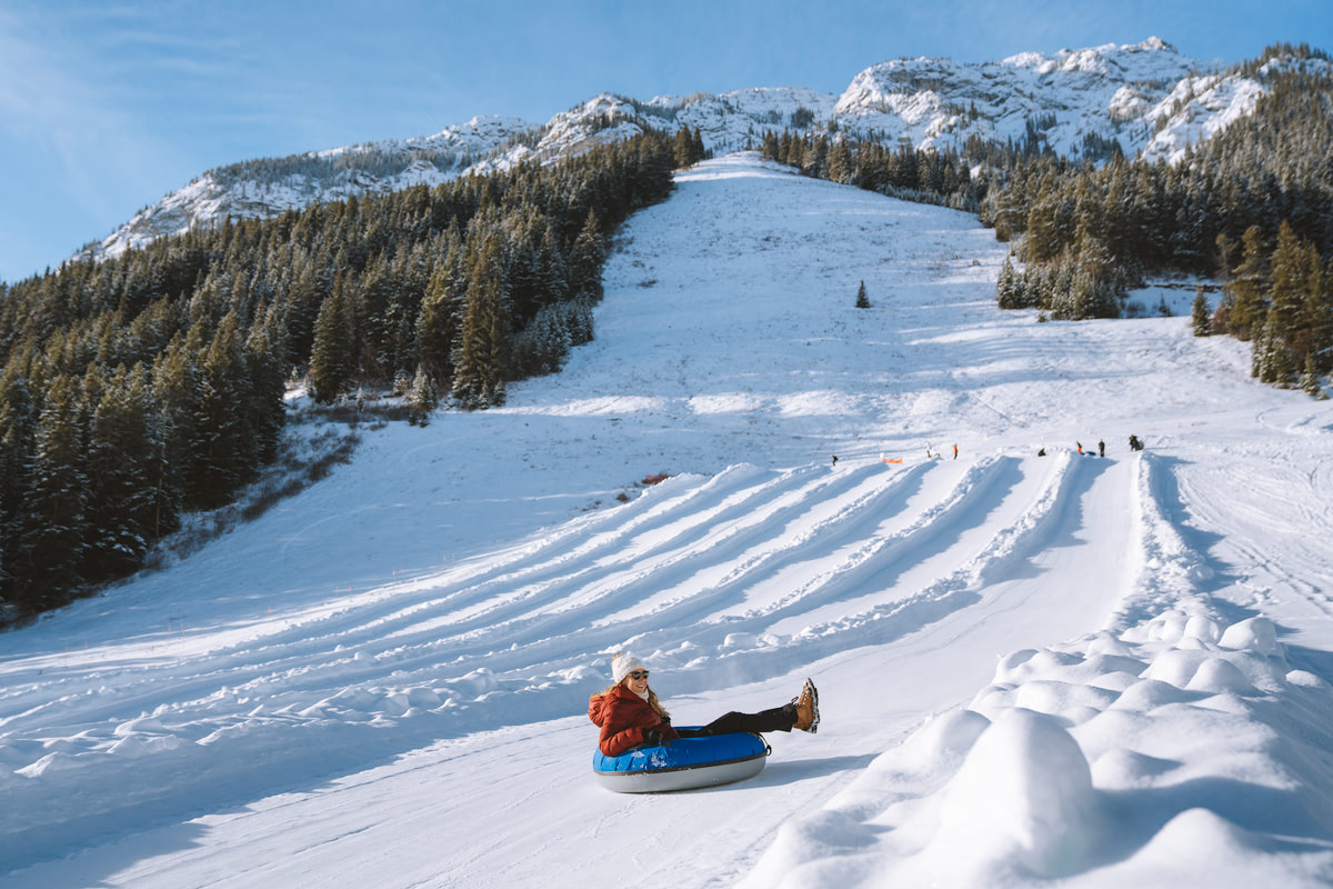 Planning a Trip to Banff in Winter - Mt Norquay Tubing - Renee Roaming