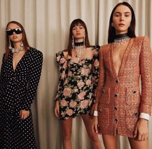 3 girls wearing designer pieces