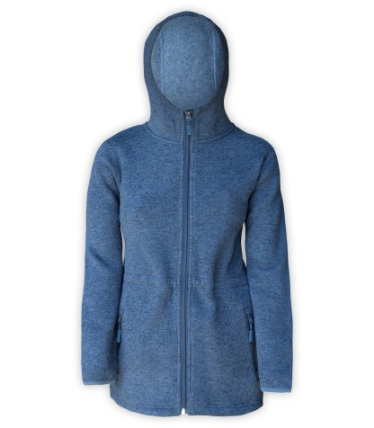 renegade club, womens fleece denim jacket, hooded, zipper, bungee cords for embroidery