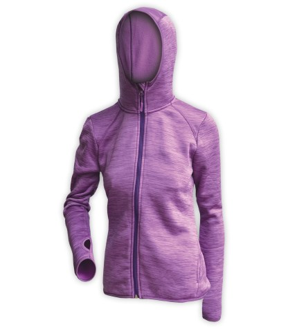 purple womens jacket for embroidery, hooded