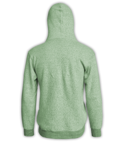 Renegade Club Unisex Pullover, adult fleece pullover hoodie, womens fleece, mens fleece, nantucket soft fleece, lime, green, back