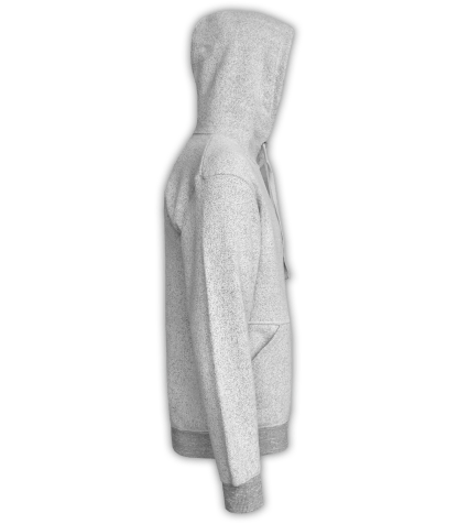 Renegade Club Unisex Pullover, adult fleece pullover hoodie, womens fleece, mens fleece, nantucket soft fleece, salt and pepper, white, gray, side
