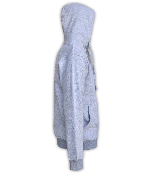Renegade Club Full Zip Jacket nantucket fleece, womens fleece, mens fleece, unisex, soft fleece, lavender, purple, violet, side