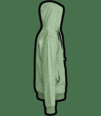 Renegade Club Full Zip Jacket nantucket fleece, womens fleece, mens fleece, unisex, soft jacket, lime, green, side