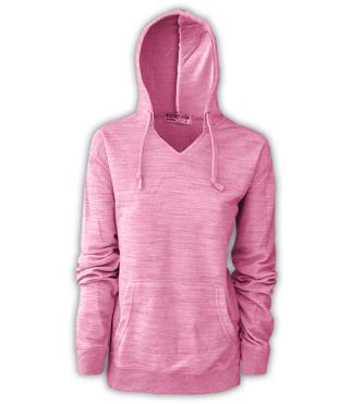 resort stop, renegade club melange womens pullover, hoodie, pink