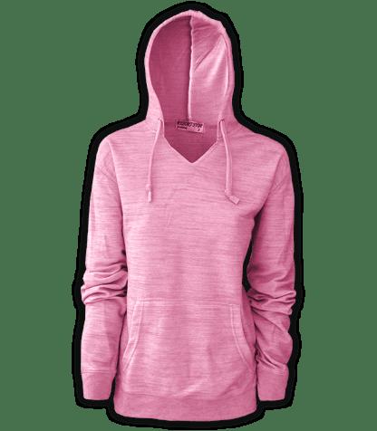 resort stop, renegade club melange womens pullover, hoodie, pink