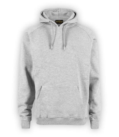 Renegade Club basic hoodie, heather gray, hoodie pullover fleece, front view