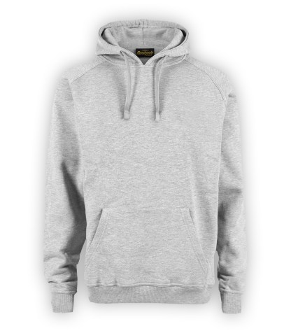 Renegade Club basic hoodie, heather gray, hoodie pullover fleece, front view