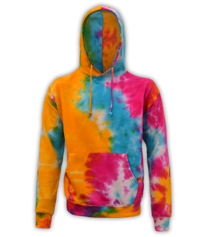 Renegade Club Tie Dye wholesale Sweatshirts, Yellow, blue, red, pink, orange, wholesale fleece pullover