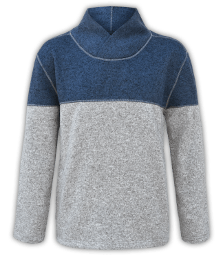 men's shawl collar sweater renegade club blue