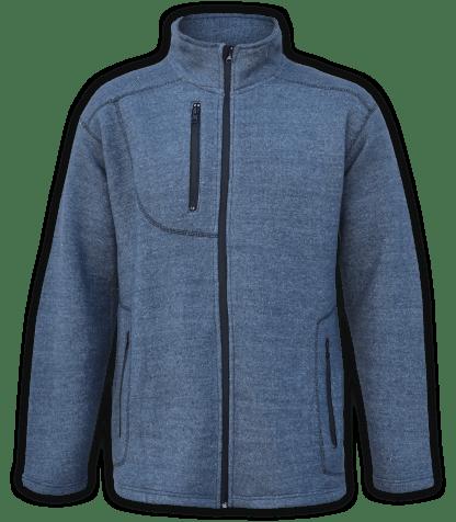 Renegade club unisex fleece jacket, full zip, nantucket soft fleece, mens jacket, womens jacket, denim, blue