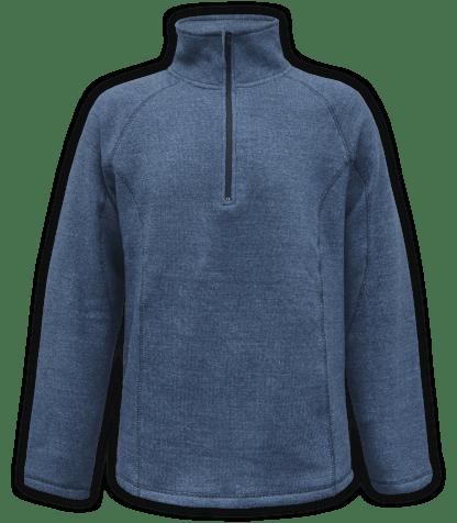 Renegade club unisex fleece pullover, half zip, nantucket soft fleece, mens pullover, womens pullover, denim, blue