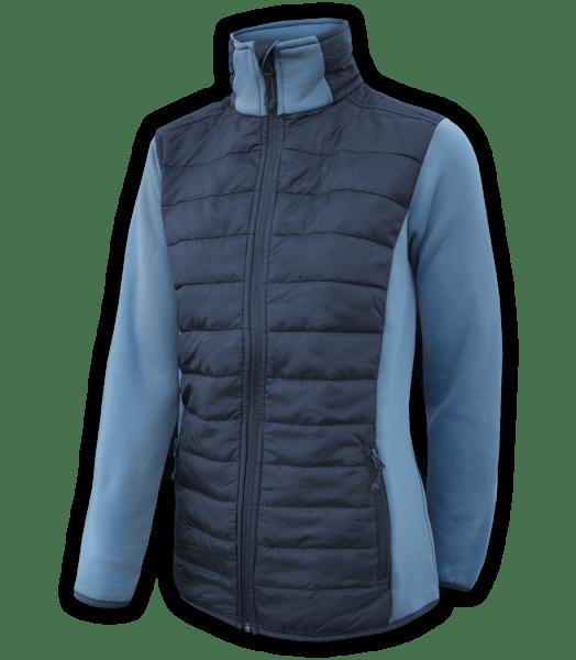 Renegade-womens-full-zip-fleece-jacket-woven-power stretch-blue-fitted-ski-jacket-light-