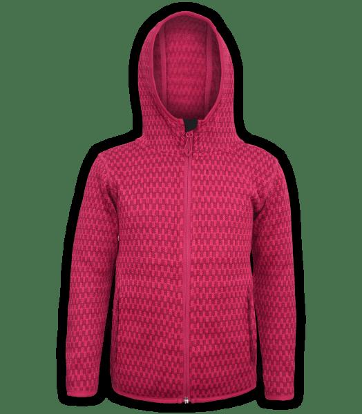 Renegade-youth-kids-full-zip-fleece-jacket-north shore-checkered-fuchsia-pink-outdoor-jacket-soft-hood