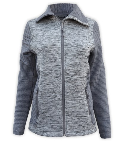 renegade power stretch fleece jacket, 3d fleece sleeves jacket, extended stand-up collar, gray