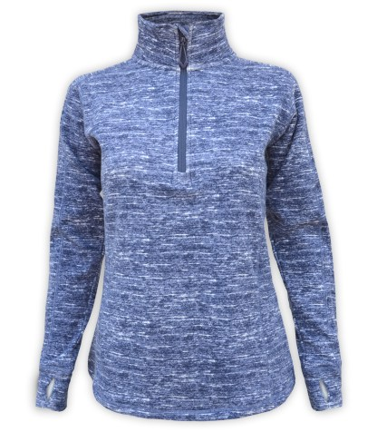 renegade club ultra soft brushed fleece pullover, women's fleece blue, purple, navy pullover, stand-up collar, thumbholes