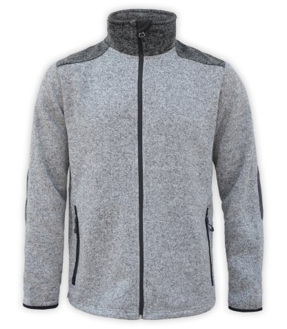 Renegade club north shore fleece jacket, color blocking, salt and peppe, gray, charcoal, black, stand up collar, zipper, wholesale fleece jacket