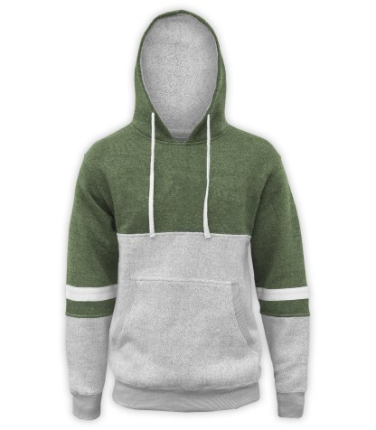 renegade club brand hoodie, blue gray white fleece pullover, green olive nantucket fleece fabric, stripes