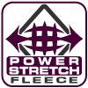 renegade power stretch fleece fabric logo, purple, arrows, grid, signature brand fabric