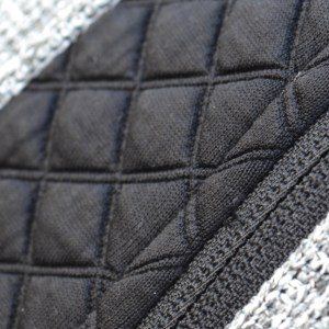 black three d fleece close up, renegade signature fleece fabric