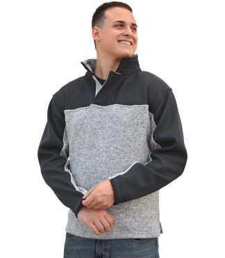 Renegade-club-mens-half-zip fleece-pullover soft fleece blank for embroidery wholesale