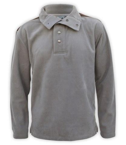 imitation suede mens corded corduroy fleece collar sweatshirt blanks for embroidery snaps