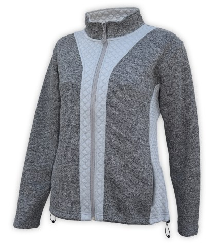 light coarse weave and 3d fleece, bungees, full zip blank for embroidery
