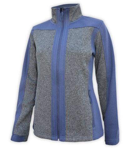 light coarse weave and embossed fleece blue jacket for embroidery wholesale blank